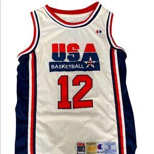 John Stockton Team USA Champion Brand Jersey